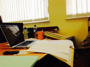My desk after the first day of casework files… They certainly don't want you to get bored!