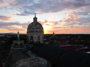 The view from the bell tower of Iglesia La Merced.