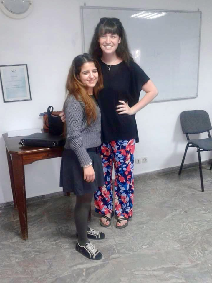 One of my dear students and I after class!