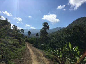A sneak peak of the (literally) breathtaking walk/hike up to the community of Viello