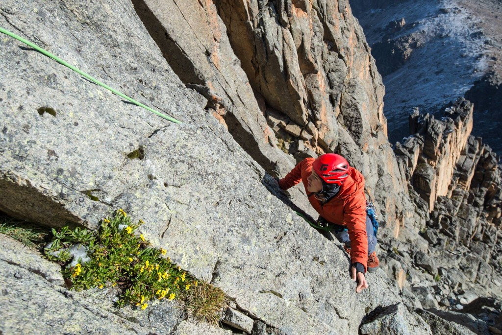 Ascending the technical routes. Cold, hard, and scary.