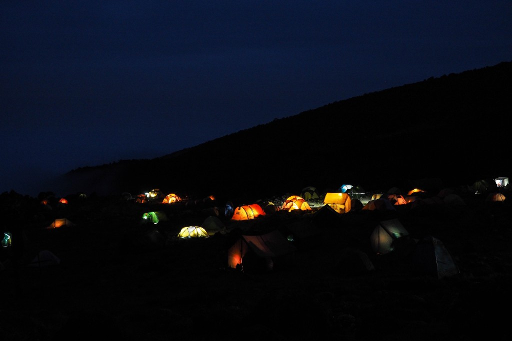 Baranco camp at night.