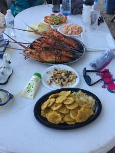 A first I was pretty happy about...fresh lobster on the beach in Grand Goâve!