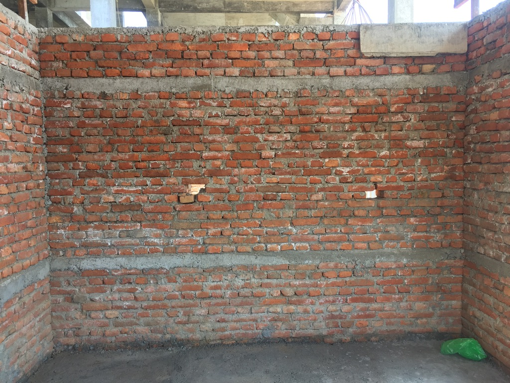 One of the completed walls.