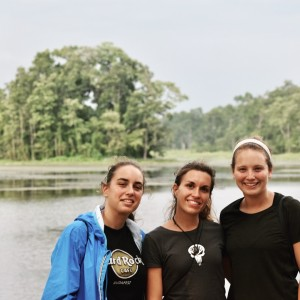 Fede, Lilly, and I at 20,000 lakes at Chitwan National Park (other volunteers)