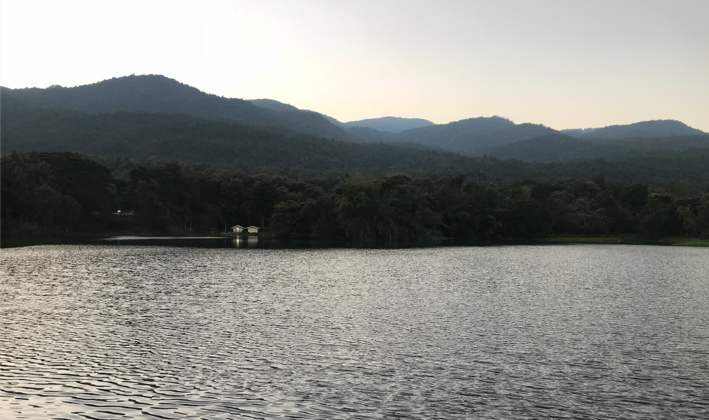 This is the And Kaew Reservoir at Chiang Mai University. I started going there last week to exercise and relax, and I think it   will be a prominent location for me during my time in Thailand.